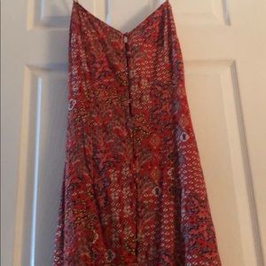 Beach dress NWT xs red floral